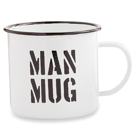 Mud Pie MP 43500034M Man Mug Enamel Mug