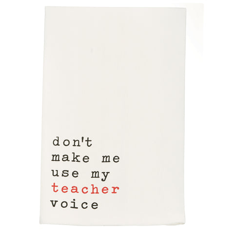 Mud Pie MP 4402005T Voice Teacher Dish Towel