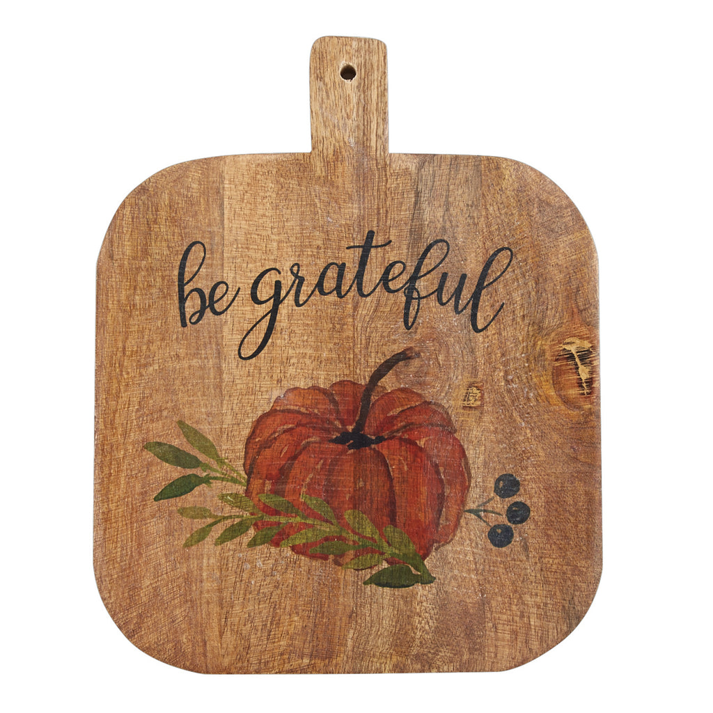 Mud Pie MP 47500052B Be Grateful Pumpkin Board