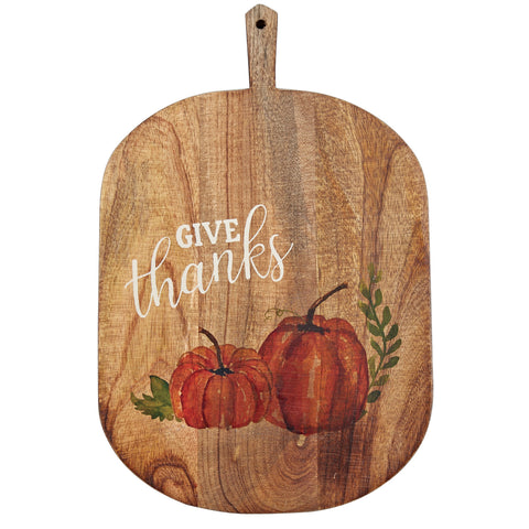 Mud Pie MP 47500052T Give Thanks Pumpkin Board