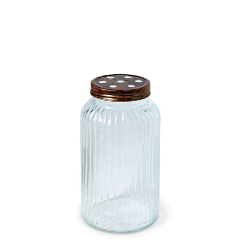 Mud Pie MP 47700067S Small Oversized Glass Stem Jar