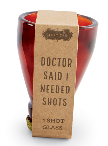 Mud Pie MP 48600087D Doctor Beer Style Shot Glass