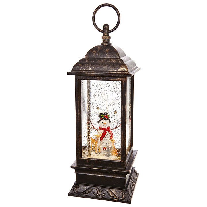 "Raz Imports RZ 3800776 11"" Snowman Lighted Water Lantern"