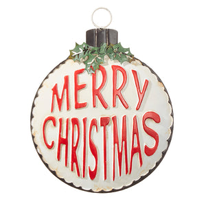 "Raz Imports RZ 3912406 13"" Merry Christmas Ornament"