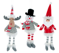 burton + BURTON BB 9736862 Assorted Plush Christmas Character Ornaments