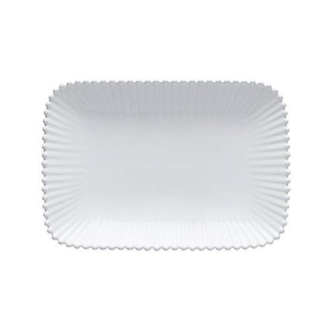Casafina CF PER302-02202F Costa Nova Pearl White Medium Rectangular Platter