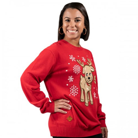 Simply Southern SS PP-0192-SWEATER-REINDEER Ladies Sweater