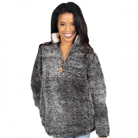 Simply Southern SS PP-0192-SHERPA-DKGRY Ladies Sherpa
