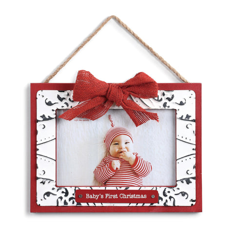 Demdaco 2020190704 Baby's First Christmas Frame Ornament