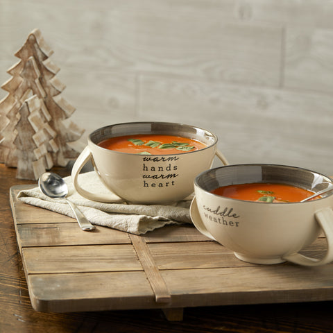 DEMDACO 2020190104 Cuddle Soup Bowls 2 Assorted