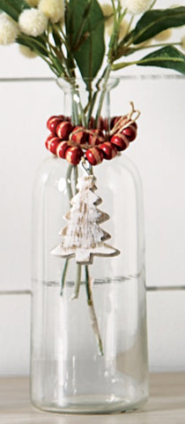 Mud Pie MP 47700145T Tree Bud Vase with Beads