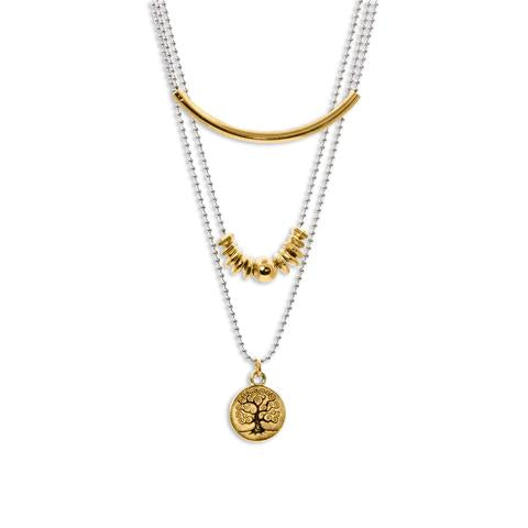 Lizzy James LJ Maple Gold Necklace