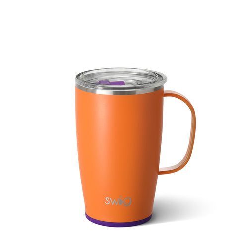 Occasionally Made OM S104-C18-OP Swig 18oz MugMatte Orange/Purple