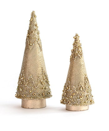 Dekorasyon Gifts DG Glass Bead Cone Tree (Champagne Gold)