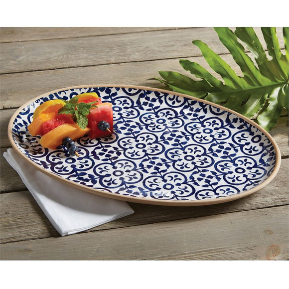 Mud Pie MP 40700198 Indigo Stoneware Platter