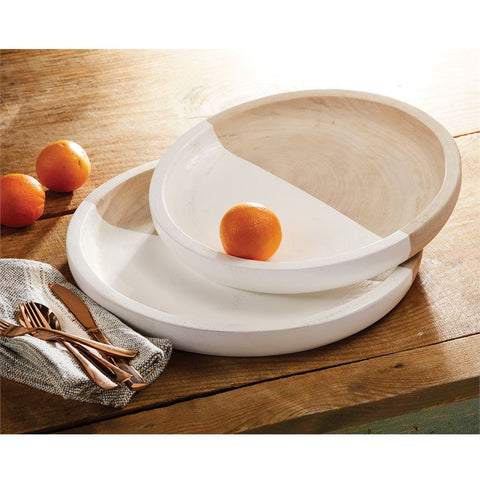 Mud Pie MP 40700247 Paulownia Tray Set
