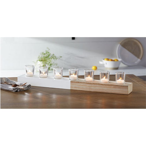 Mud Pie MP 40950030 Paulownia Candle Holder Set