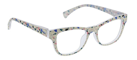 Peepers 2655 Terrazzo Reading Glasses - Cream
