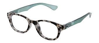 Peepers 2623 Show Stopper Reading Glasses - Gray Tortoise/Green