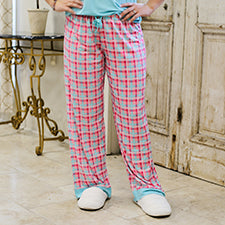 The Royal Standard 127320030 Tropical Punch Plaid Sleep Pants Aruba Blue/Pink