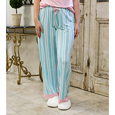 The Royal Standard 127320042 Beauty in Blue Sleep Pants Aruba Blue/Light Pink