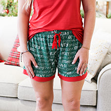 The Royal Standard 127320076 Holiday Cheer Sleep Shorts Green/True Red/White