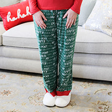 The Royal Standard 127320080 Holiday Cheer Sleep Pants Green/True Red/White