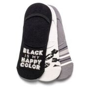 wit gifts WG WT-1050-07 No Show Sock Set of 3 Black