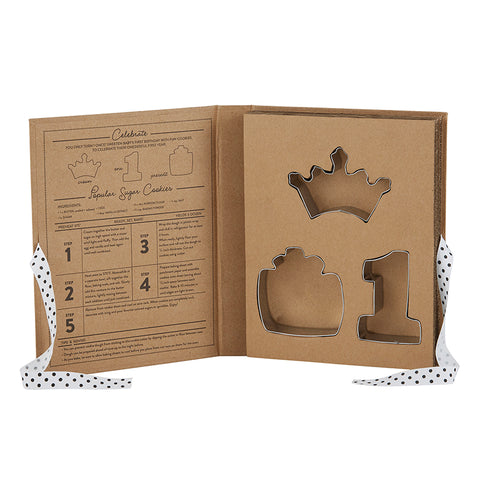 Creative Brands CB SBDS Stephan Baby Cardboard Box Cookie Cutter Set