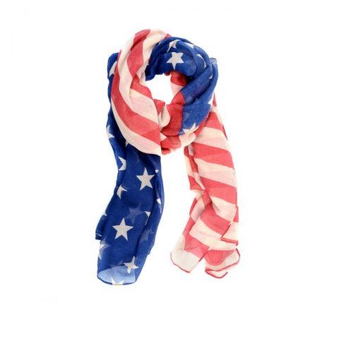 Joy Accessories Inc. JA E10246-07 Navy/Red American Flag Scarf
