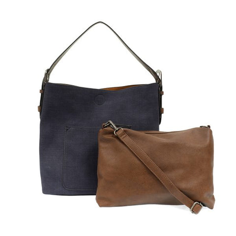 Joy Accessories Inc. JA L8063 Linen Hobo Bag