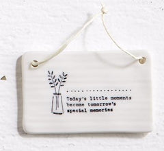 Two's Company TC E6360-UN Moments & Memories Porcelain Ornament