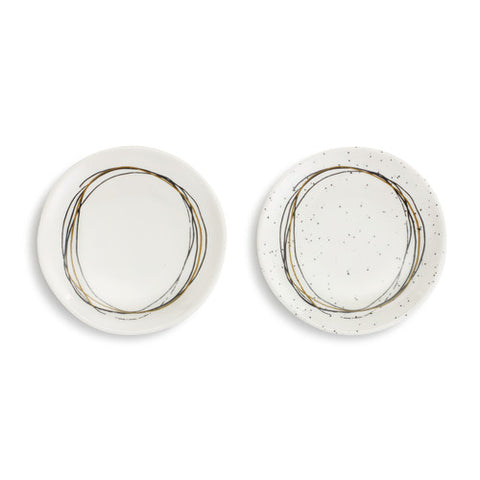 Demdaco 1004180543 Set of 2 Circle Wine Appetizer Plate