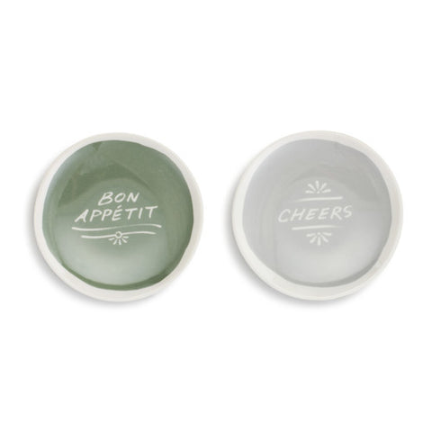 Demdaco 1004180549 Set of 2 Cheers Wine Appetizer Plate