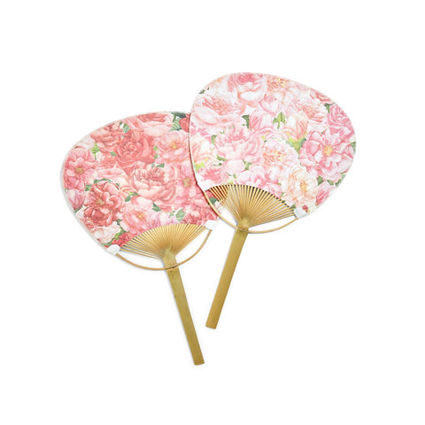 Twos Company TC 52923-20 Roses Paddle Hand Fan