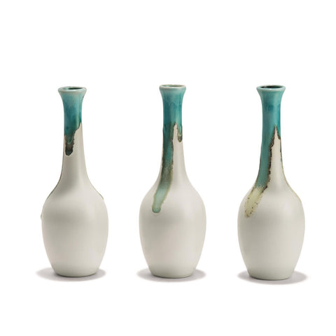 Twos Company TC PVB002-ASST Turquoise Drip Vase