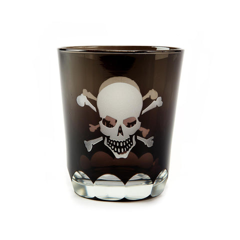 Twos Company TC 3381 Skellington Skull/Crossbones Double Old Fashioned Glass