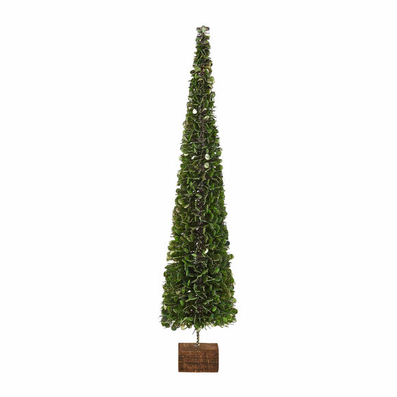 Mud Pie MP 40030095 Faux Boxwood Tree on Block