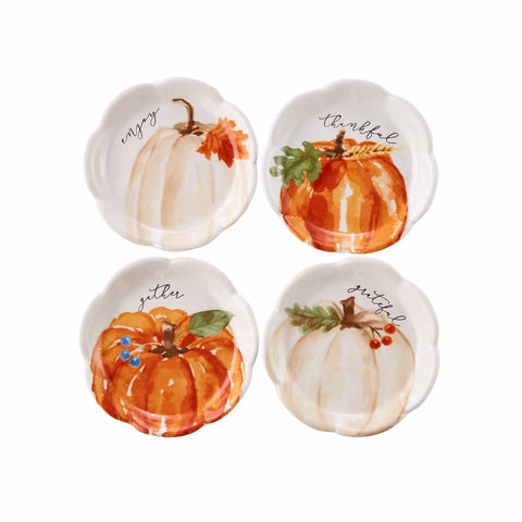 Mud Pie MP 42600611 Pumpkin Tidbit Dishes