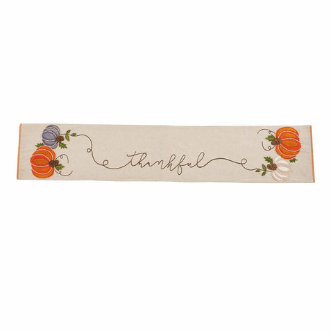 Mud Pie MP 43900058 Embroidered Pumpkin Runner