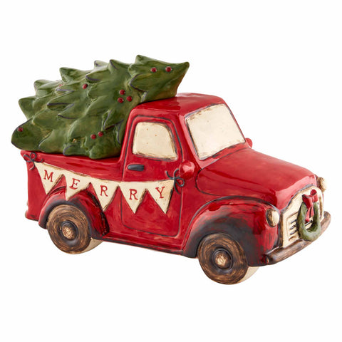 Mud Pie MP 46600002 Christmas Truck Cookie Jar