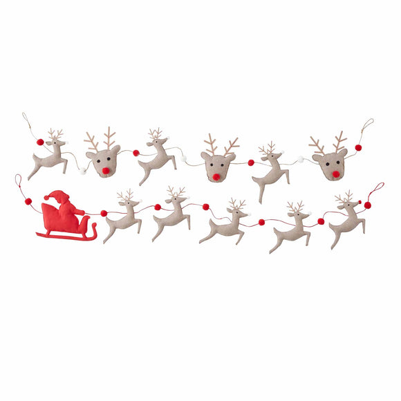 Mud Pie MP 42600639 Reindeer Garlands