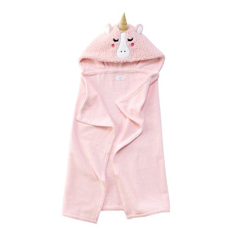 Mud Pie MP 11730007 Baby Unicorn Hooded Towel