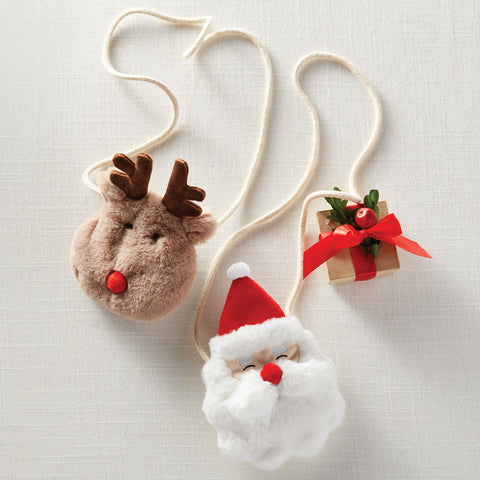 Mud Pie MP 10010073 Christmas Plush Purses