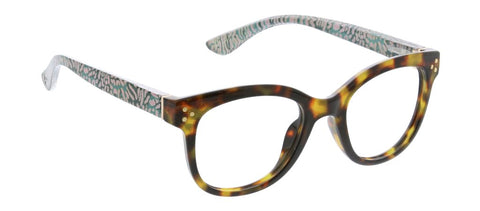 Peepers PS 2717 Jungle Fusion Blue Light Reading Glasses - Tortoise/Cheetah