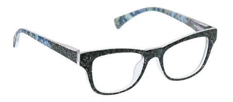 Peepers PS 2718 Orchid Island Blue Light Reading Glasses - Green/Leopard Floral