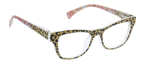 Peepers PS 2719 Orchid Island Blue Light Reading Glasses - Tan/Leopard Floral