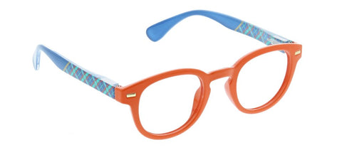 Peepers PS 2720 Tartan Blue Light Reading Glasses - Orange/Plaid