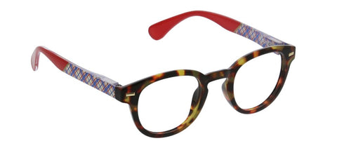 Peepers PS 2721 Tartan Blue Light Reading Glasses - Tortoise/Plaid