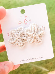 Millie B Designs MBD SUNESM02 Small Sunny Earrings-White